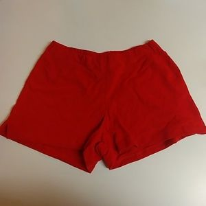 Pants - Red Cotton Shorts